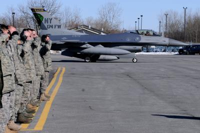 New York Air National Guard Says Goodbye to F-16s