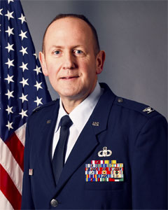 Colonel Paul M Bishop, Commander, Eastern Air Defense Sector