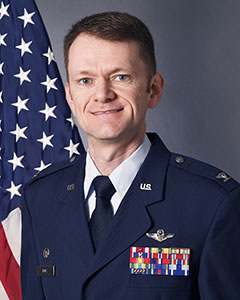 Colonel Joseph F Roos, Commander, 224th Air Defense Group