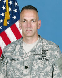 LTC Michael Charnley, 642nd Aviation Support Battalion Commander