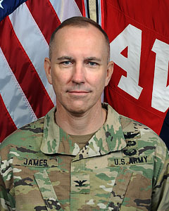 LTC Jack James, 642nd Aviation Support Battalion Commander