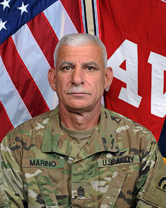Command Sergeant Major Joseph Marino, CSM, 3-142nd Attack Helicopter Battalion Command Sergeant Major