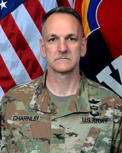 Colonel Michael  Charnley, Commander, 42nd Combat Aviation Brigade