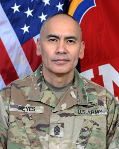 CSM Arnold G. Reyes, 42nd Combat Aviation Brigade Command Sergeant Major