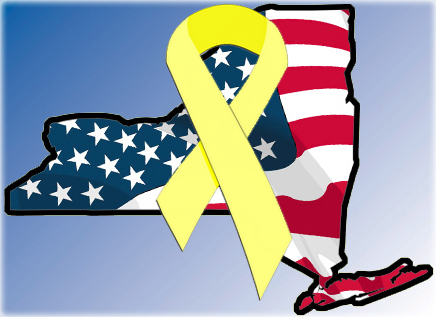 Beautiful image of yellow ribbon reintegration