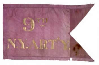 9th Regiment Artillery (Heavy), NY Volunteers - Marker Flag 1
