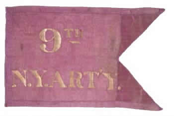 9th Regiment Artillery (Heavy), NY Volunteers - Marker Flag 2