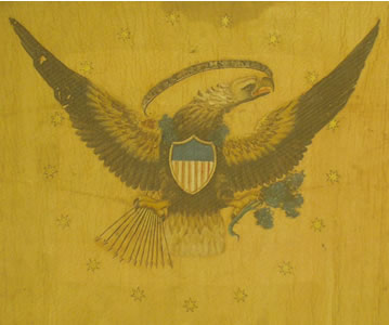 Albany Republican Artillery Flag - Reverse Detail