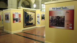 "Northwest view of the ""1862: Red, white, and Battered"" Exhibit, June, 2013"