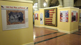 View of the gallery showing the Marshall House Flag