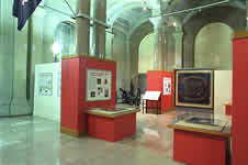 The southeast view from within the exhibit