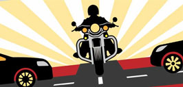 Motorcycle Safety Month Message graphic