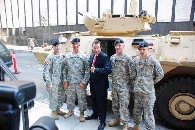 New York National Guard Soldiers featured on 'Colbert Report'