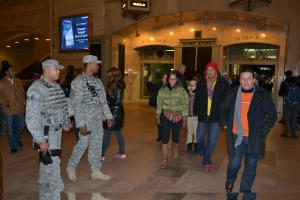 New York National Guard on Duty in New York City to Aid Holiday Travelers