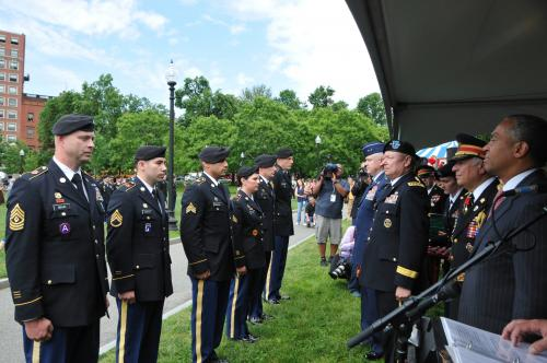New York Army National Guardsman Honored by Massachusetts Governor and Chief of National Guard Bureau