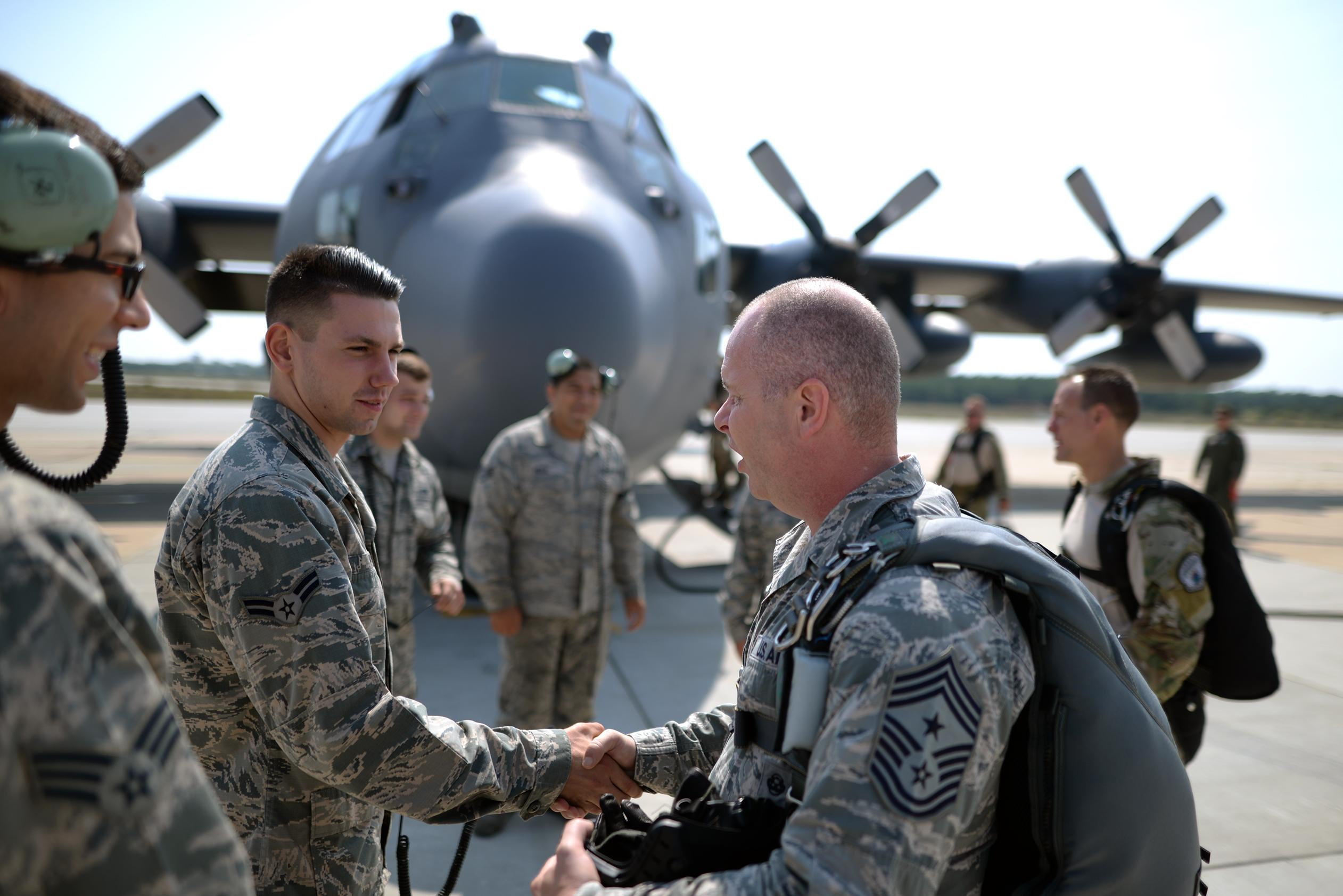 Air National Guard Command Chief visits the 106th Rescue Wing