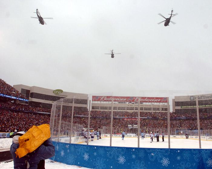 NHL Outdoor Hockey Recognizes Service Members