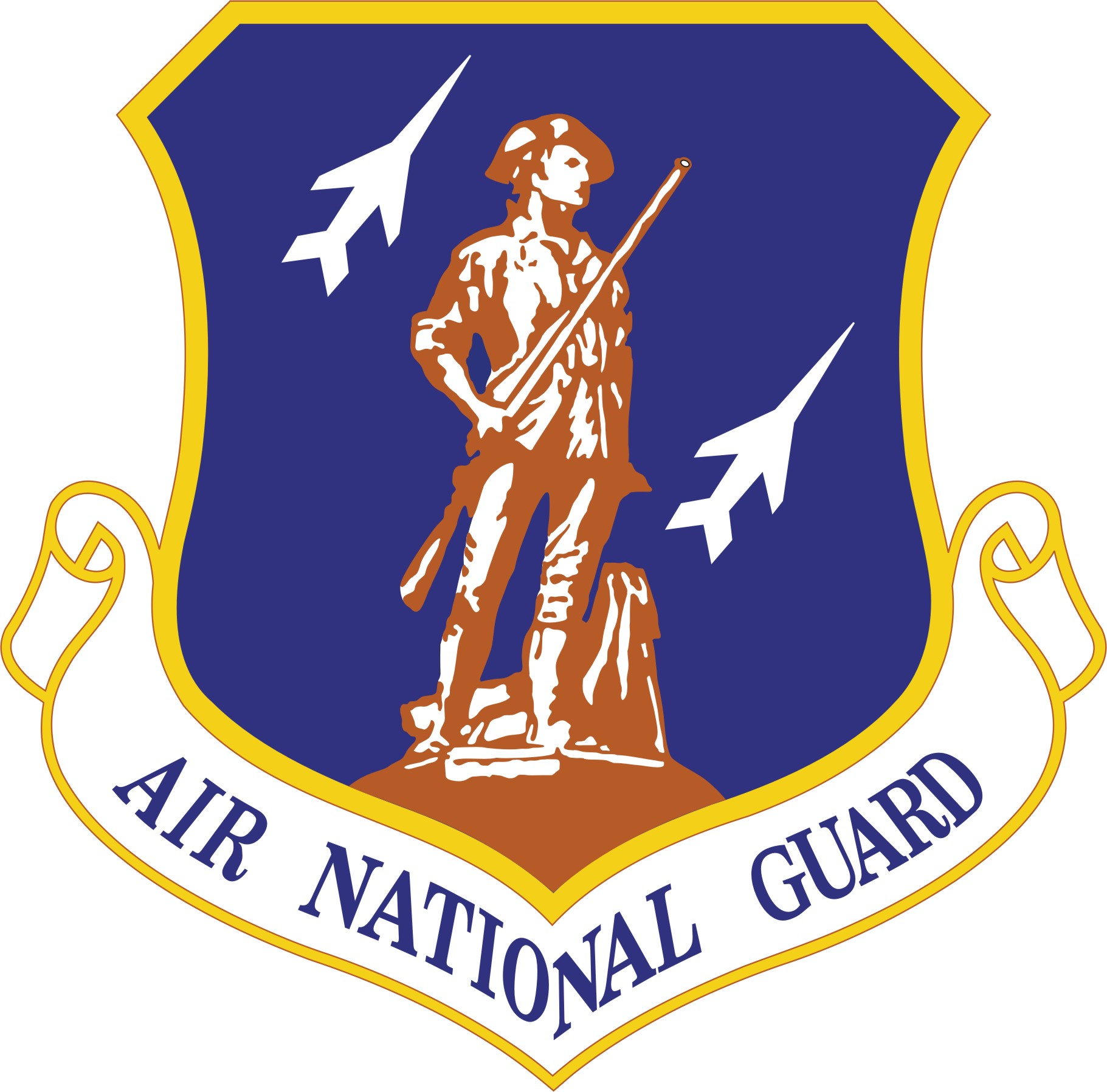 full resolution Headquarters, NY Air National Guard unit insignia