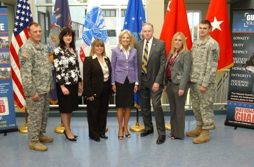 Dr. Jill Biden Visits New York National Guard Soldiers and Families