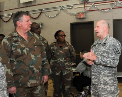 South African Reserve Chief and Staff Visit New York National Guard