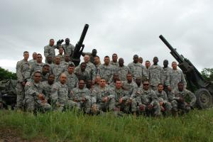 Unit photo of B Battery 1 Battalion 258th Field Artillery