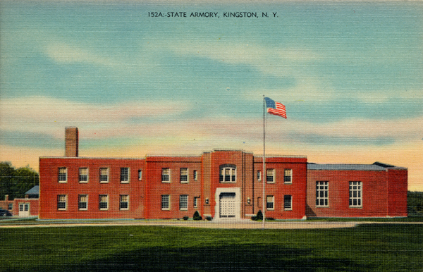 Postcard Of Kingston North Manor Armory
