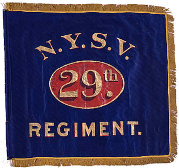 29th Regiment, NY Volunteer Infantry - Marker