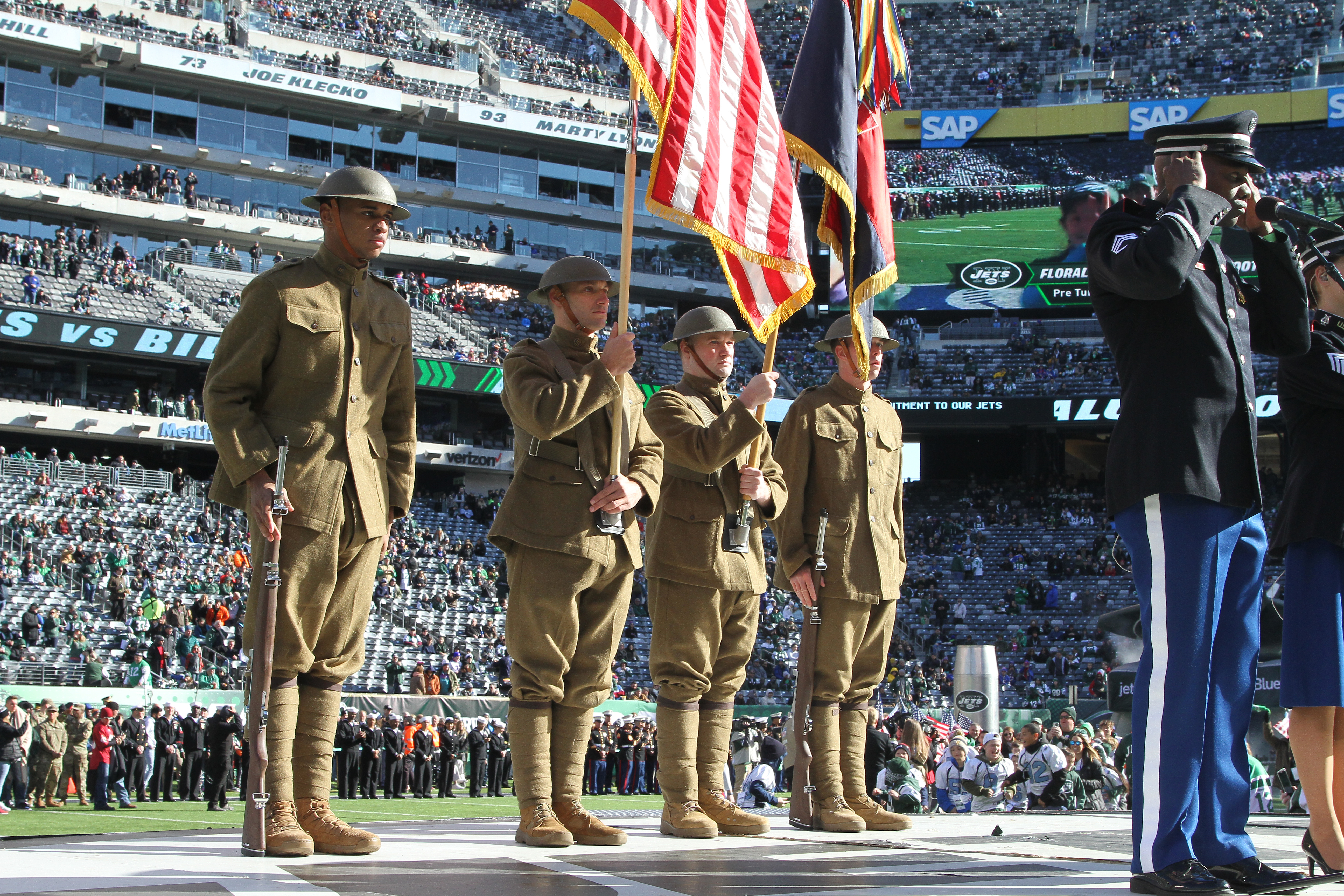 42nd Div. Color Guard Marks Veterans Day