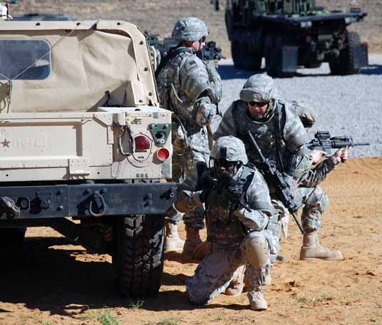 Soldiers train at Fort Bragg, N.C for deployment to Afghanistan