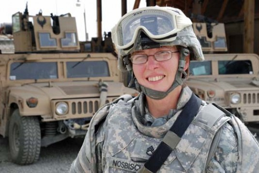 Staff Sgt. Linda Nosbisch, from Lancaster, N.Y. is among the Guard's military moms