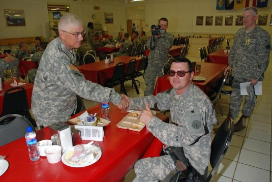 New York Adjutant General Meets Troops