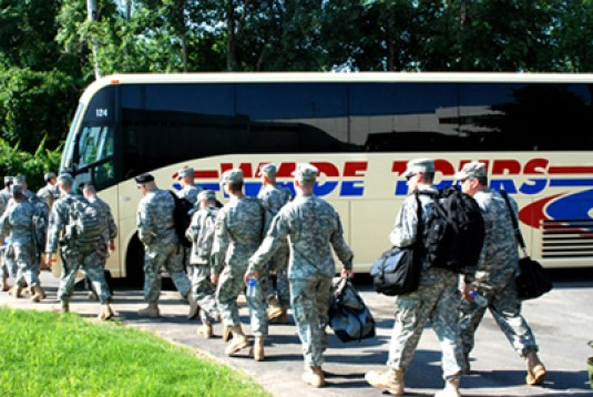 Aviation Soldiers Depart For Fort Sill