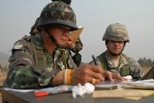 N.Y. National Guard Soldiers train alongside Royal Thai Army counterparts during Cobra Gold 2009.