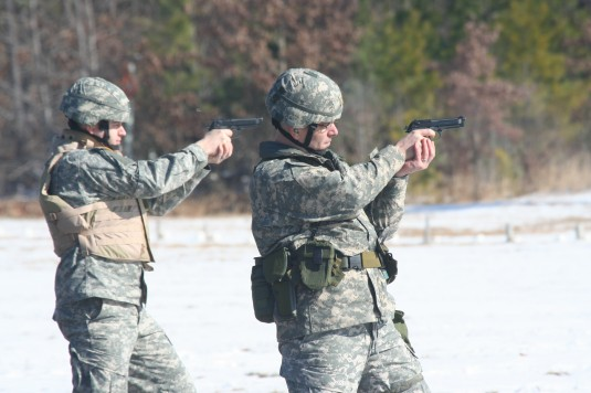 New  York Army Guard Soldiers Conduct Weapons Qualification Training