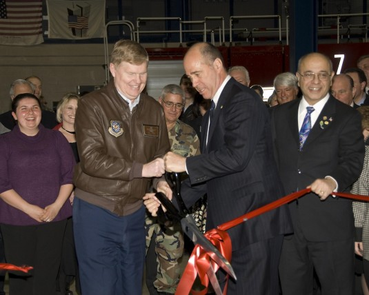 Cutting the Ribbon on New Air Guard Firehouse
