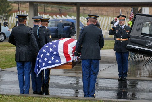 Rainy Day Honors For a Fallen Comrade
