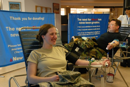 Airmen Give  Blood on Good Friday
