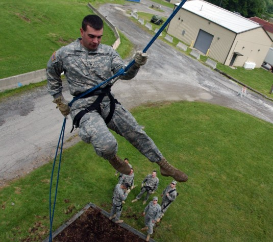 N.Y. National Guard Soldiers Are Off The Wall