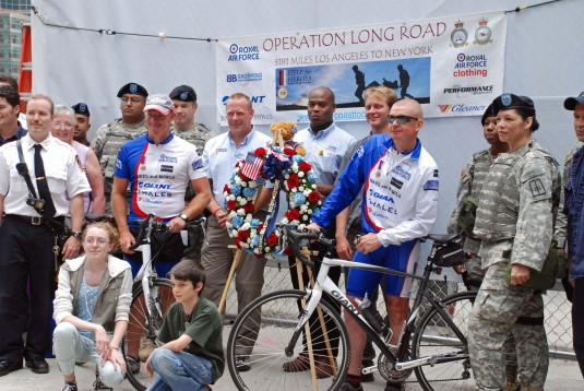 Guard Welcomes British Bike Team to NYC