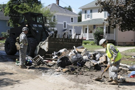 Guard Engineers Cleaning Up  In Gowanda