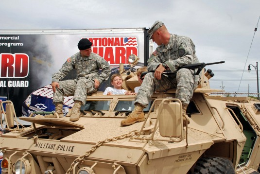 State Fair Visitors Check Out the National Guard