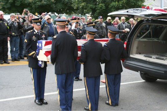The NY National Guard Military Forces Honor Guard returns a Civil War Soldier to Saratoga