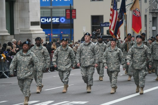 New  York Army Guard Soldiers March in the Veterans' Day Parade