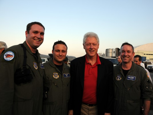 107th AW Members with Bill Clinton