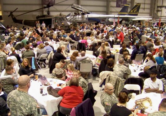 "Several hundred family members, friends and ""well wishers"" gathered at the Wings of Eagles Museum on Sunday February 21 f"