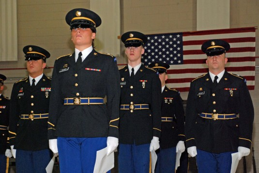 Honor Guard ready for inspection