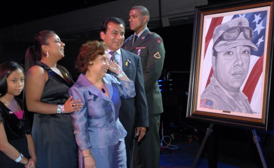 Soldier portrait and family