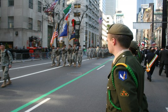 Irish 58th Reserve Infantry Battalion joins NY National Guard unit in St. Patrick's Day Parade