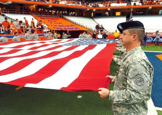 427th BSTB pregame event - Carrier Dome, Syracuse, NY Sept 15, 2007