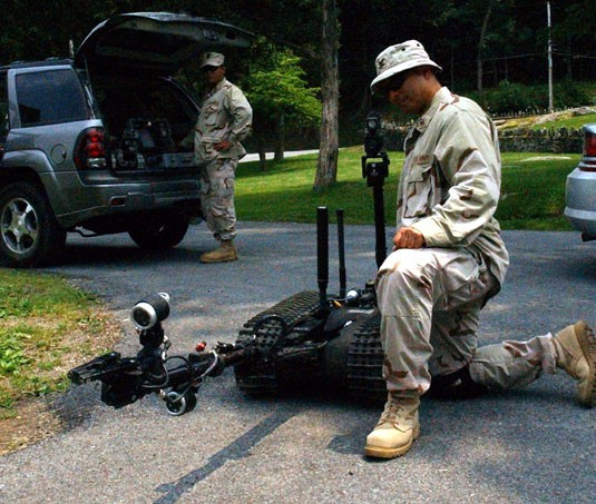EOD Defeats IED's with Robot's Reach
